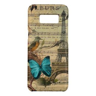 Blue butterfly Robin bird nest Paris Eiffel Tower Case-Mate Samsung Galaxy S8 Case