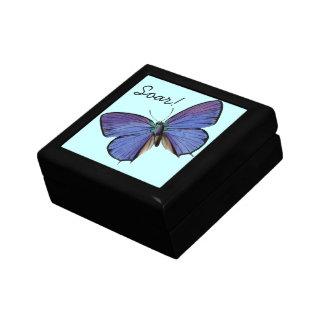 Blue Butterfly Soar! Box Jewelry Box