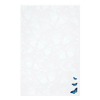 Blue butterfly stationary stationery