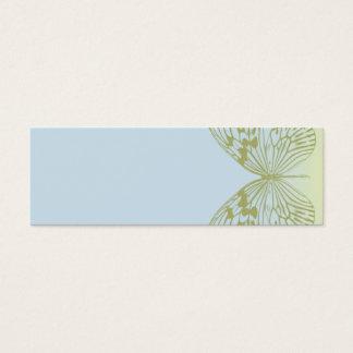 Blue Butterfly & Stripe Mini Business Card