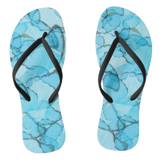 Blue Butterfly Summer Flip-Flops Thongs