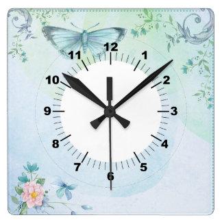 Blue Butterfly Wall Clocks
