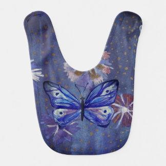 Blue Butterfly Watercolor  Baby Bib