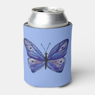 Blue Butterfly Watercolor Custom Can Cooler