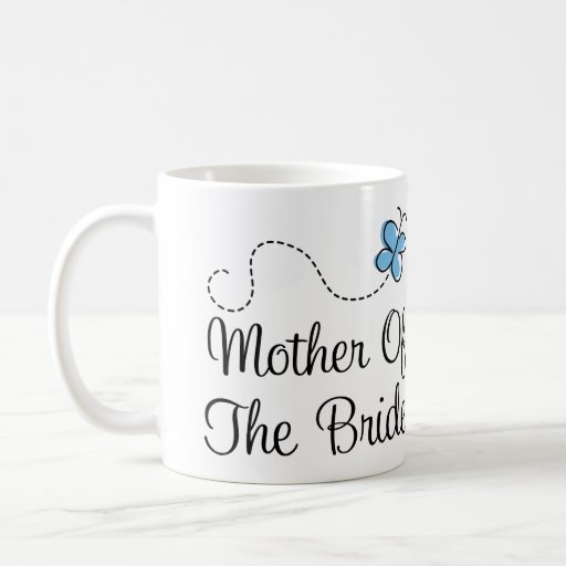 Blue Butterfly Wedding Mother of the Bride Mug