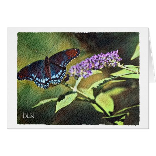 Blue Butterfly/Wildlife /Watercolor Look Card
