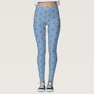 Blue Butterfly Wing Caleidoscopic Leggings