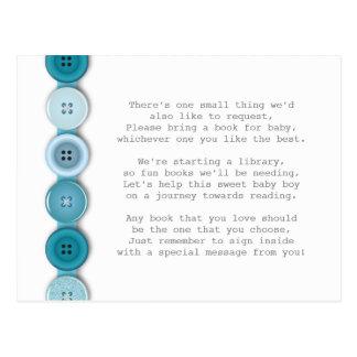 Blue Button Insert card