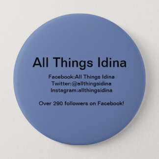 Blue button with All Things Idina info