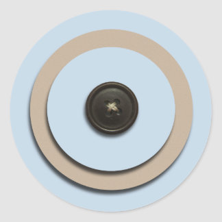 Blue Buttons Brackets Envelope Seals Sticker
