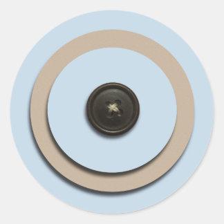 Blue Buttons Brackets Envelope Seals Round Stickers