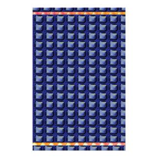 BLUE Buttons Graphic Pattern Beautiful GIFTS FUN Customized Stationery