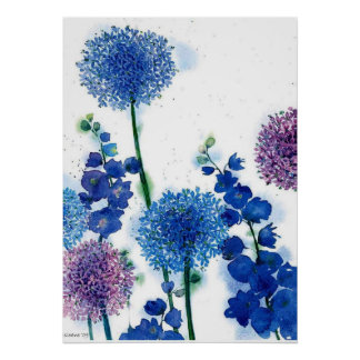 blue by u  Watercolor Poster