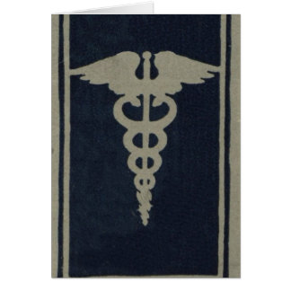 Blue Caduceus Card