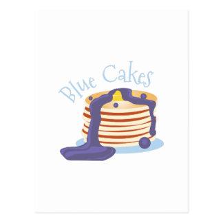 Blue Cakes Postcard