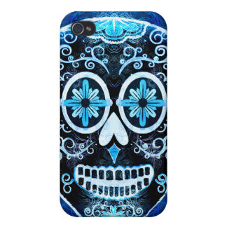 Blue Calavera Case Savvy iPhone 4 Case