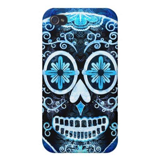 Blue Calavera Case Savvy iPhone 4 Case