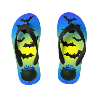 Blue Caldron and Bats Kid's Thongs