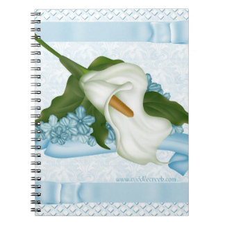 Blue Calla Lily Notebook