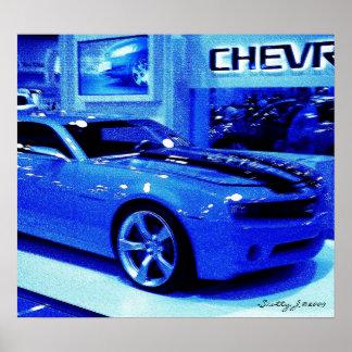 """Blue Camaro"" © 2009 S.J. Poster"
