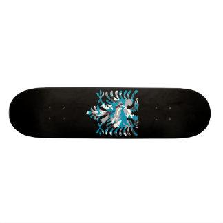 Blue Camo Albanian Eagle 21.3 Cm Mini Skateboard Deck