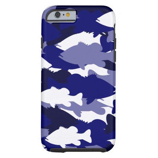 Blue Camo Bass Fishing iPhone 6 Case