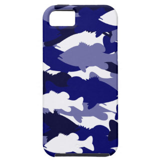 Blue Camo Bass Fishing iPhone 5 Cover
