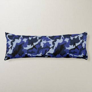 Blue Camo, Brushed Polyester Body Pillow