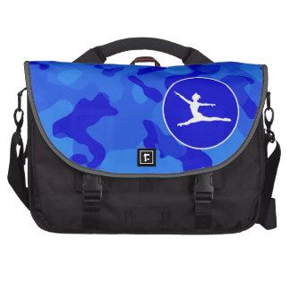 Blue Camo; Camouflage Ballet Laptop Bags