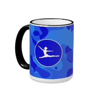 Blue Camo Camouflage Ballet Mugs