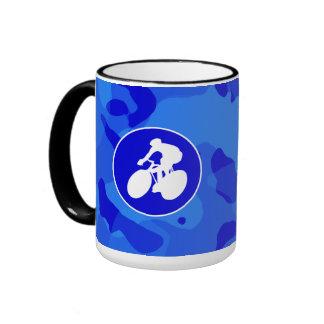 Blue Camo Camouflage Cycling Mugs