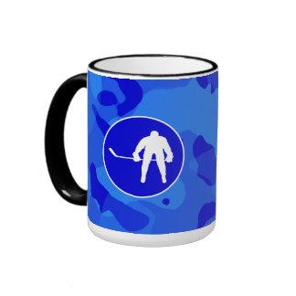 Blue Camo; Camouflage Hockey Mugs