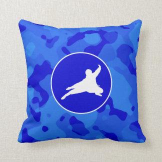 Blue Camo; Camouflage Ninja Cushion