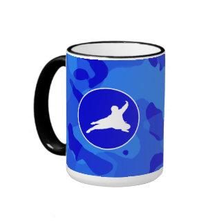 Blue Camo Camouflage Ninja Mugs