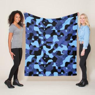 Blue Camo Fleece Blanket