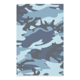 Blue Camo for Scrapbooking Stationery
