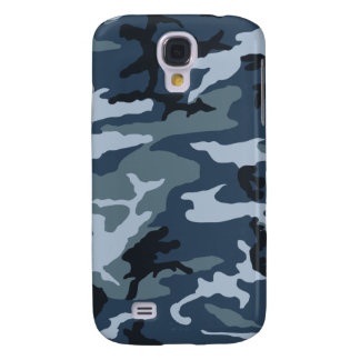 Blue-Camo Galaxy S4 Cases