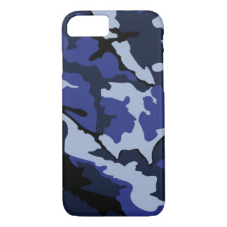 Blue Camo, iPhone 7, Barely There Case