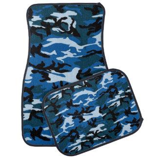 Blue Camo Pattern car mat set