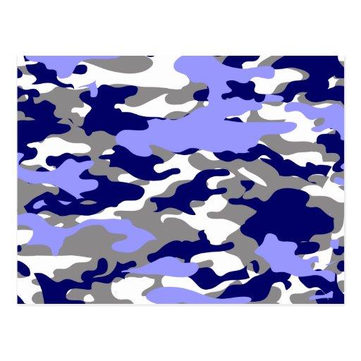BLUE CAMO - POSTCARDS