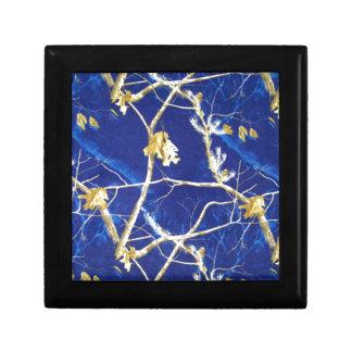 Blue Camo Small Square Gift Box