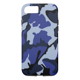 Blue Camo, Tough iPhone 7 Case
