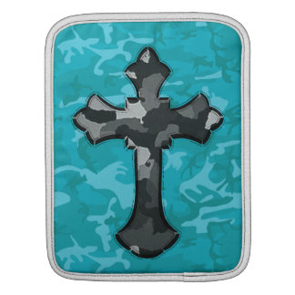 Blue Camo with Cross iPad Sleeve