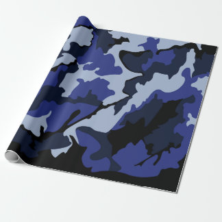 "Blue Camo, Wrapping Paper 30""x6'"