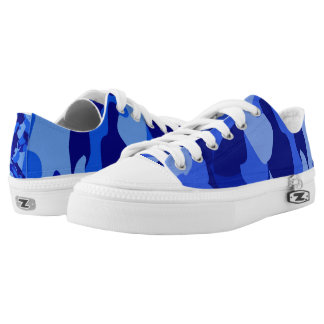 Blue Camouflage 101 Low Tops