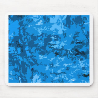 Blue Camouflage Abstract Pattern Design Mousepad