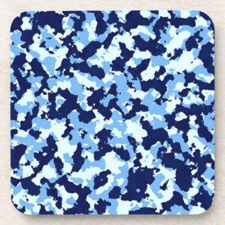 Blue Camouflage Beverage Coasters