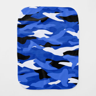 Blue camouflage burp cloth