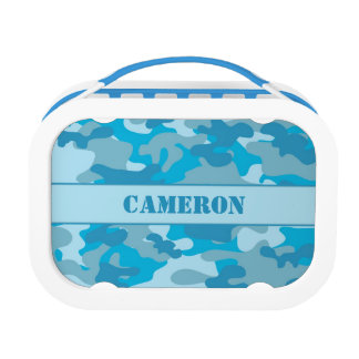 Blue Camouflage (Camo)   Personalized Lunch Box