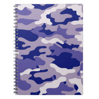 Blue Camouflage Camo texture Note Books